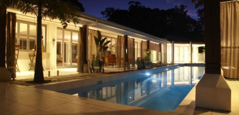 Alaya Verde Lap Pool Night wide